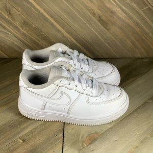 Nike Air Force Ones Low Toddler White Size 9C